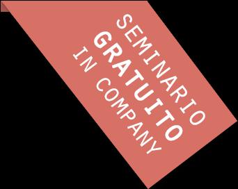 Banderola con el texto 'Seminario Gratuito in Company'